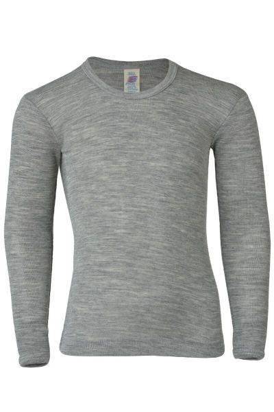 Engel Natur Kids Shirt LS Lt Grey Melange