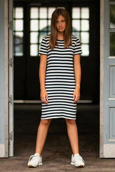 Esme Dress Navy/chalk