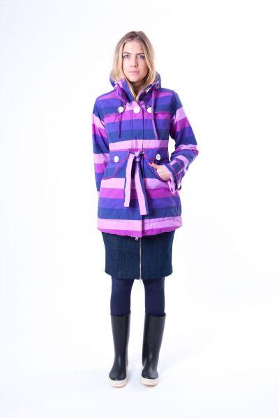 Lisa Winter Jacket Violet Stripe