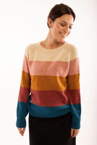 Lisa Sweater Light beige multi-col