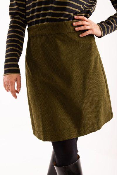 London Cord Skirt Olive