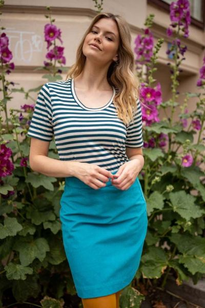London Cord Skirt Rainblue