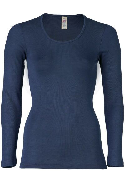 Engel Natur Ladies Shirt LS Navy