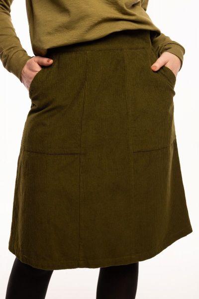 Maren Cord Skirt Olive