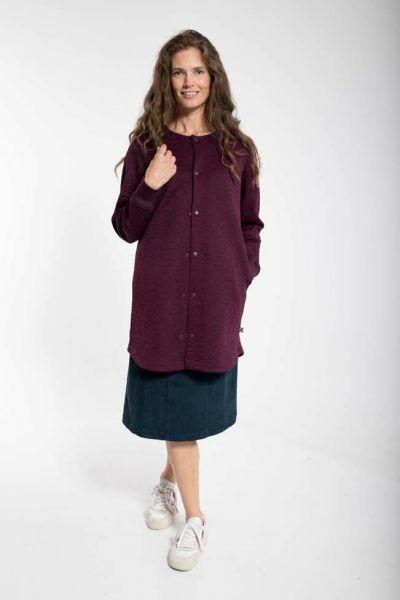 Maude Thermo Coat Dark Bordeaux
