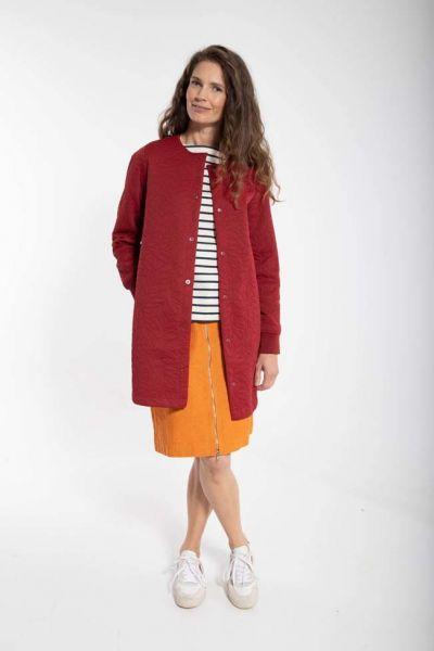 Maude Thermo Coat Dark Red