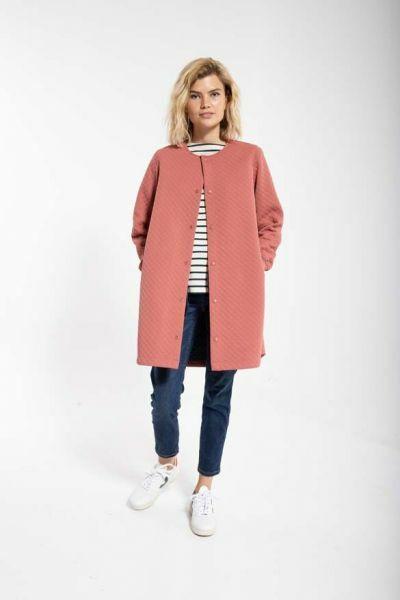 Maude Thermo Coat Grey Rose