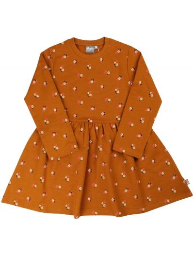 ORGANIC - Merete Dress Mustard MINIFLOWER