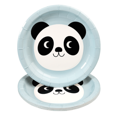 RL Paper Plates Round Miko the panda