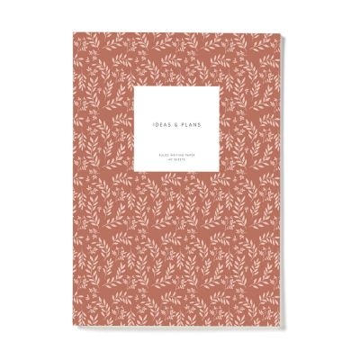 Kartotek Notebook Small Terracotta LEAVES