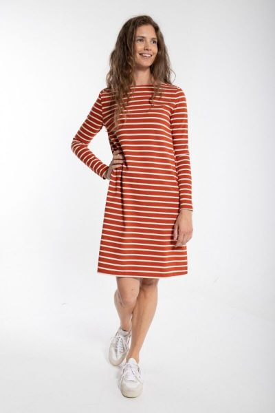 ORGANIC - Nassau Dress Rust/Chalk