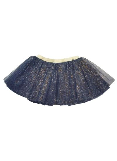 Sparkle Skirt Navy Glitter