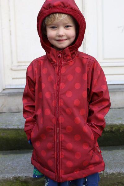 Olivia Softshell Dark Red/Red DOTS