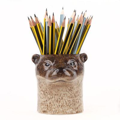 Quail Pencil Pot Otter