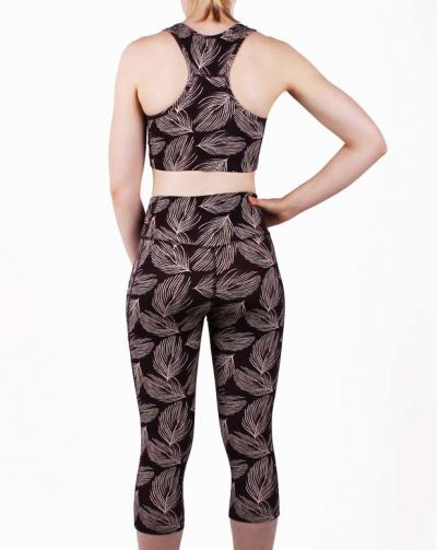 ESS - Bamboo 3/4 leggings Dark Bdx PALMA