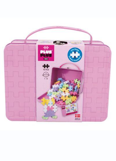 Plus Plus Big Suitcase Metal 70 PCS Pink Pastel