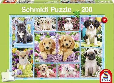 Schmidt Puzzle 200 Brk Puppies