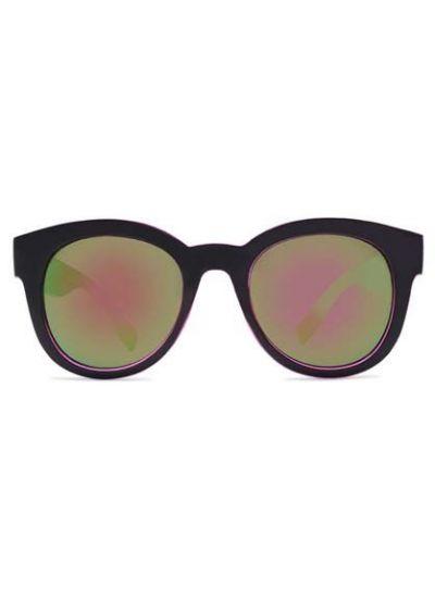 Solbriller Crusheyes REFUGE Black/Pink Mirror