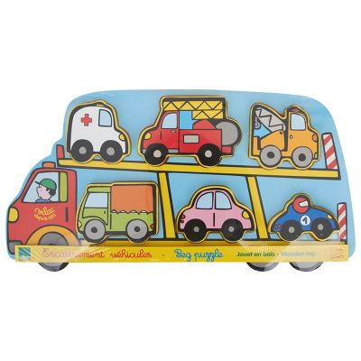 Room2play Wooden Peg Puzzle Truck