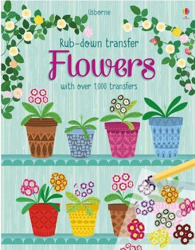 Usborne-Rub Down Transfer Book Flowers