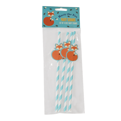 RL Paper Straw (Pack of 4) Rusty the fox