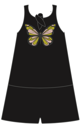 Croco Suit Black SOMMERFUGL