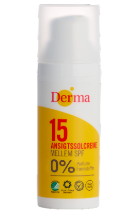 Derma Sun Ansigtscreme SPF15 50ml Parfumefri