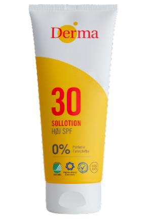 Derma Sollotion SPF30 200ml  Parfumefri