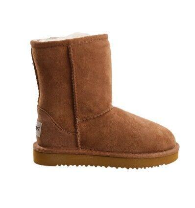 Short Sheepskin Boots Chestnut