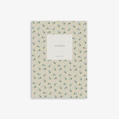 Kartotek Notebook Small Creamy Grey SMALL FLOWER
