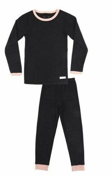 SNORK LS Lounge Pyjamas Black Melange