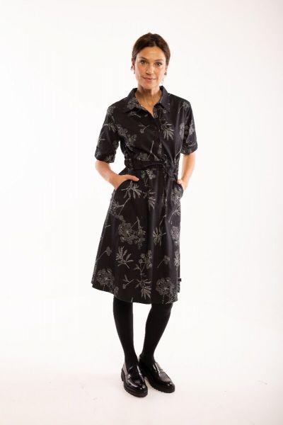Susanne Dress Dk Grey/silver grey HEMLOCK