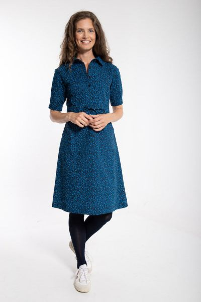 Susanne Dress Dusty navy FLEURIE