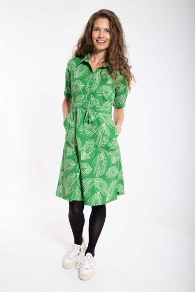 Susanne Dress Green/chalk PALMA