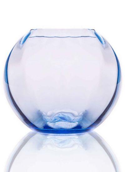 Anna Von Lipa Swirl Globe Vase 18cm Light Blue