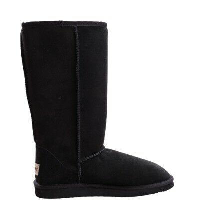 Tall Sheepskin Boots Black