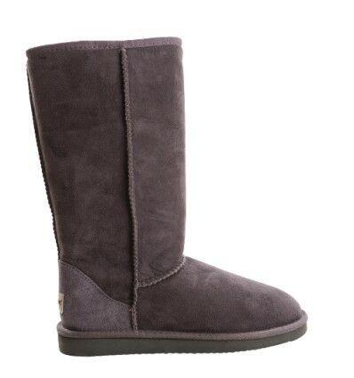Tall Sheepskin Boots Goudron (Grey)