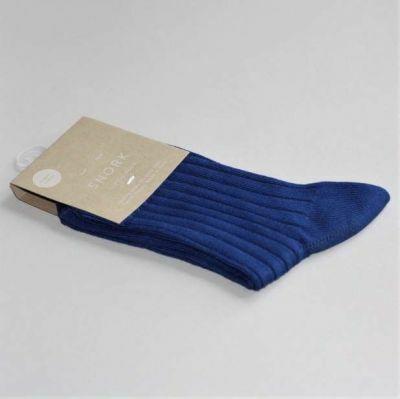 SNORK Organic Rib Socks Blue