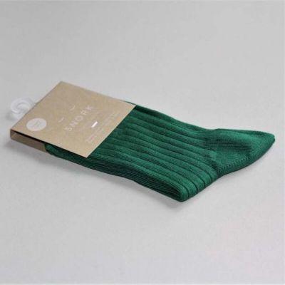 SNORK Organic Rib Socks Green