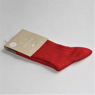 SNORK Organic Rib Socks Red