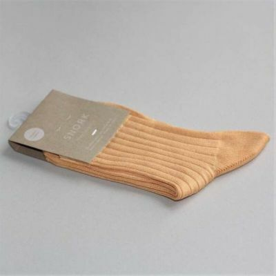 SNORK Organic Rib Socks Yellow