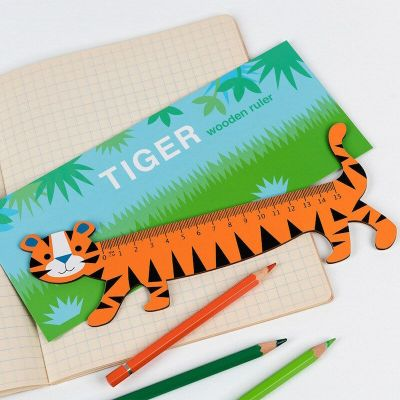RL Wooden Ruler Tiger