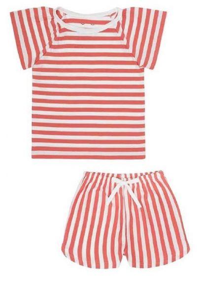 SNORK Selma Summer Pyjamas Lazy Red Stripes