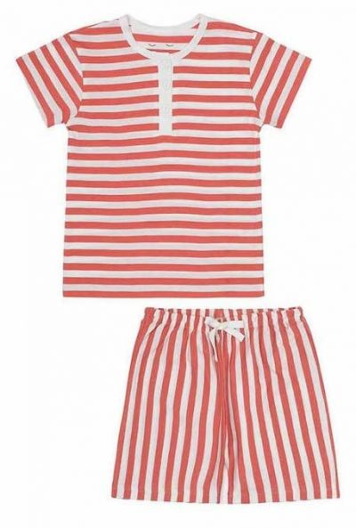 SNORK Vilhelm Summer Pyjamas Lazy Red Stripes