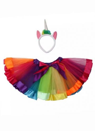Rainbow Unicorn Dressup Multicolour