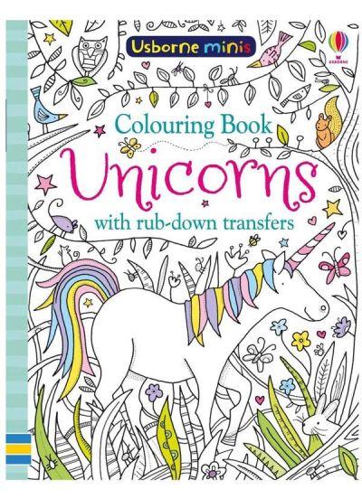 Usborne-Minis Coloring Book Unicorns