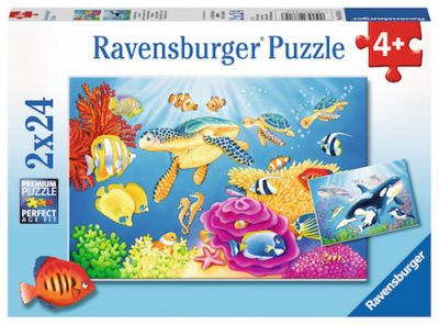 Ravensburger 2x24 Brk Vibrance under the sea