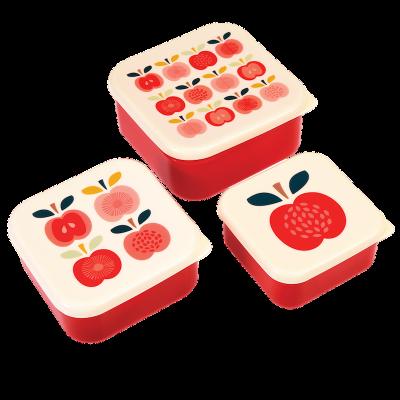RL Snack Box-Set of 3 Vintage Apple
