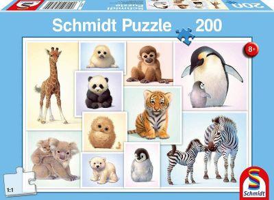 Schmidt Puzzle 200 Brk Wild Animal Babies