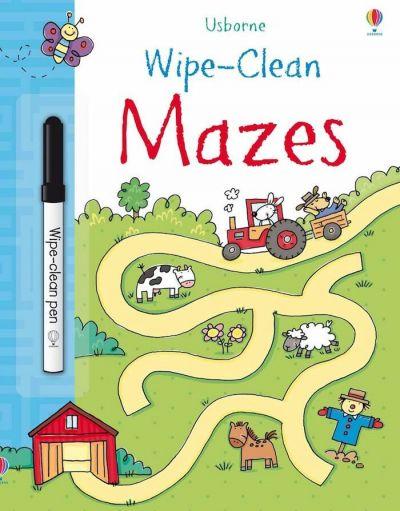 Usborne-Wipe Clean Mazes